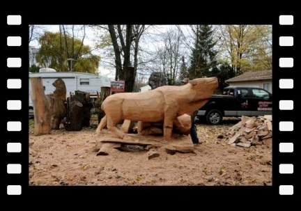 Elk Chain Saw Carving by Scott Kuefler