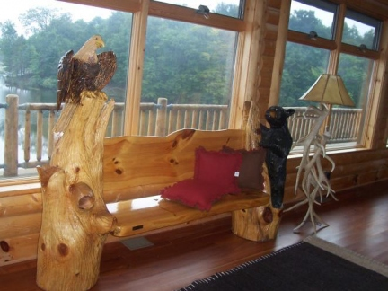 Eagle and Bear Bench