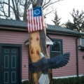 Eagle with Flag (alternative angle)